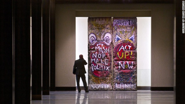 Two segments of the Berlin Wall are a highlight of the 1,606-room Hilton Anatole in Dallas, which hosts a <a href='http://www.hilton.com/en/hotels/content/DFWANHH/media/pdf/en_DFWANHH_fact_sheet.pdf' target='_blank'>massive art collection</a> of more than a thousand pieces throughout 27 floors.