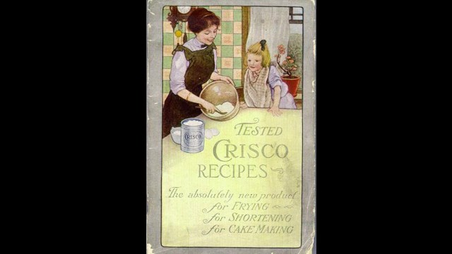 "Procter & Gamble<a href='http://www.crisco.com/About_Crisco/History.aspx' target='_blank'> introduced </a>Crisco to consumers in 1911 to ""provide an economical alternative to animal fats and butter."" The vegetable shortening was the first manufactured food product to contain trans fat."