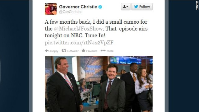 Christie almost makes 'announcement' in sitcom cameo
