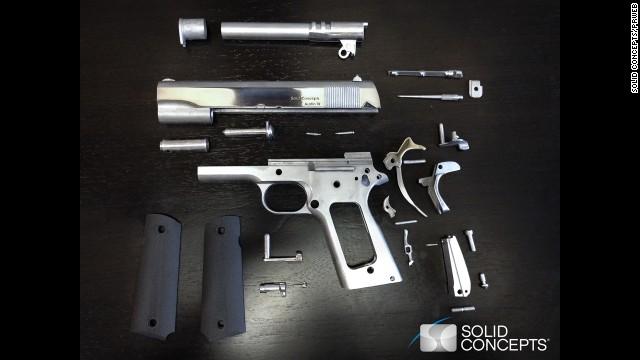 Una compañía de EE.UU. fabrica una pistola de metal con una impresora 3D
