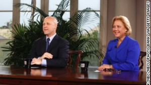 New Orleans Mayor Mitch Landrieu and his sister Louisiana Sen. Mary Landrieu.