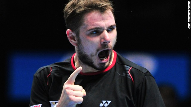 Stanislas Wawrinka secured his second win at the ATP World Tour Finals with a three set victory over David Ferrer and combined with Nadal's win over Berdych saw the Swiss star into the last four.