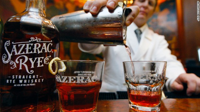 "New Orleans is the ""undisputed cocktail capital of the South,"" according to ""The Southerner's Handbook,"" and no visit to the Big Easy should go without trying a Sazerac. This cognac-based beverage packs a punch, but a lemon twist should help offset the absinthe."