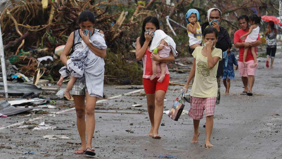 Devastación total en Filipinas