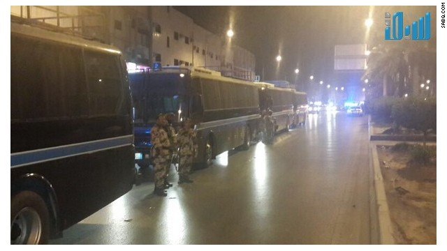 Hundreds of people were reportedly arrested in Riyadh after unrest. (Picture courtesy of Sabq.com)