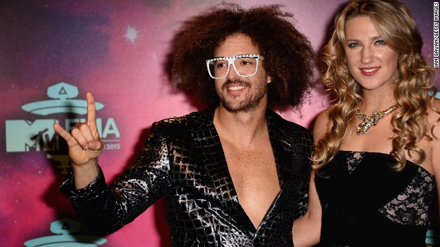 MC Redfoo and Victoria Azarenka arrive.