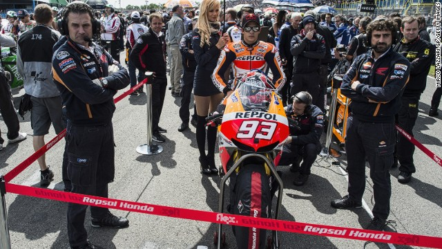 Marquez has claimed nine pole positions, six wins and been on the podium in every race he has finished this season.