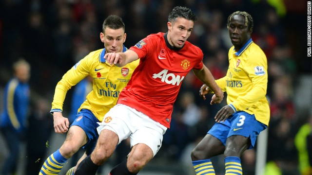 Robin van Persie was the difference between Arsenal and Manchester United on Sunday.