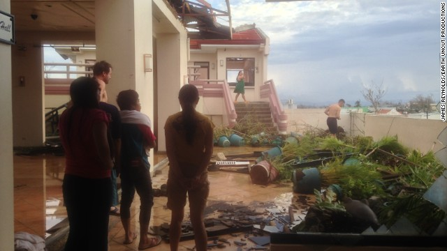 Reynolds and two colleagues, Mark Thomas and Josh Morgerman, went to Tacloban to record the impact of Super Typhoon Haiyan which hit the city on Friday, November 8, 2013.