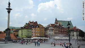 Warsaw\'s restored old town.