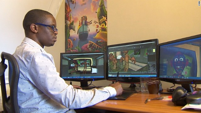 "Michael Muthiga, of Fatboy Animations, is the man behind the successful five-part animated series. He says Kenya's advertising industry is ""booming."""