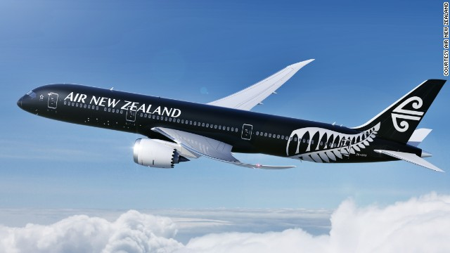 The latest Boeing Dreamliner - the 787-9 model - appears in launch customer Air New Zealand's new livery. The airline will take delivery of the aircraft in October 2014 for use on flights initially between Auckland and Perth and then between Auckland and Tokyo and Auckland and Shanghai.
