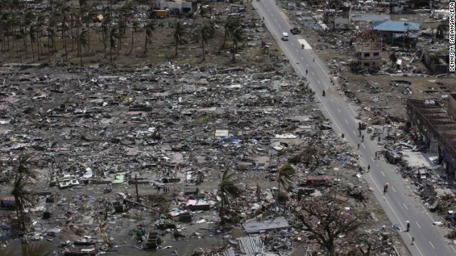 Tacloban, Philippines, on November 11