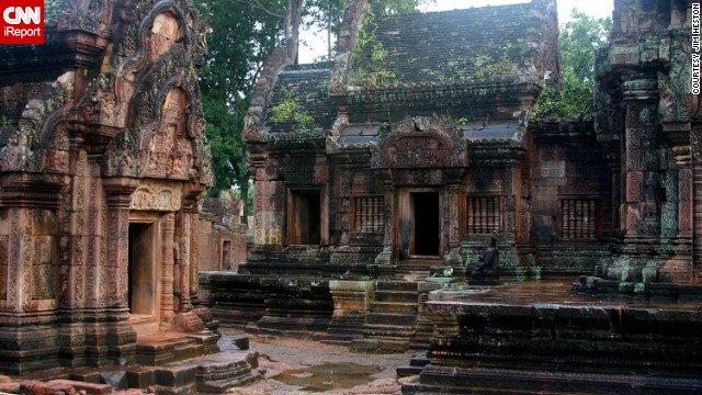 Cambodia's Banteay Srei temple looks like something out of a movie, but the country is filled with similarly picturesque temples and ruins. See more photos on <a href='http://ireport.cnn.com/docs/DOC-1029653'>CNN iReport</a>.