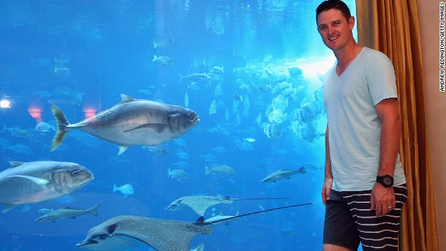 The prize for the golfer who got nearest the target was a five-night stay in one of the two underwater suites at the Atlantis, complete with your own aquarium full of 65,000 fishy inhabitants. Regular punters would have to fork out nearly £5,000 ($7,846) a night to stay under the sea.