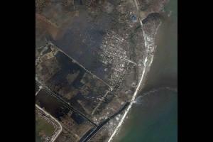 Antes y después del tifón Haiyan