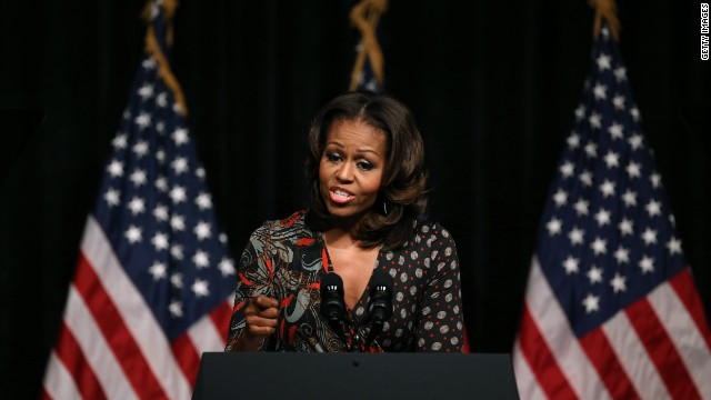 First lady tells students: 'My story can be your story'