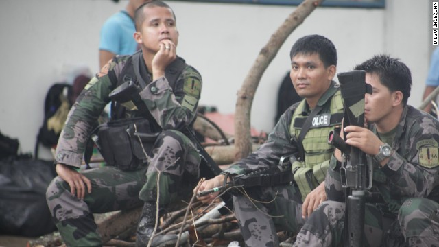 A battalion of the Philippine National Police was mobilized to help bring calm to Tacloban. This unit will travel by sea, as air transport is used for basic supplies and other urgent travel.
