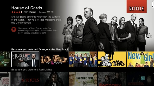 "<strong>Winner: Netflix </strong>-<strong> </strong>That little service with the red DVD envelopes is all grown up. After emphasizing the streaming portion of its business, Netflix got into the original programming market and hit on all cylinders, topped by ""House of Cards"" and its nine Emmy nominations. Get ready for more."