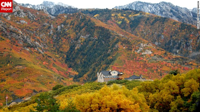 "Autumn color fills Utah's <a href='http://ireport.cnn.com/docs/DOC-1049943'>Little Cottonwood Canyon</a>. ""Here in Utah, we love to drive in the canyons this time of the year to appreciate nature's glorious beauty,"" said Netra Ghosh."