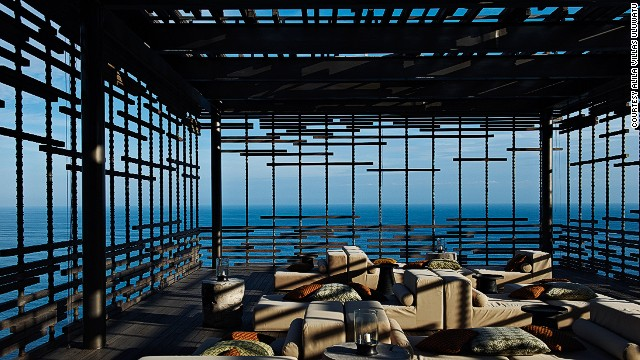 Made of bamboo and reclaimed wood, the <strong>Alila Villas Uluwatu</strong> in Bali hangs over a cliff-edge, looking out over the Indian Ocean.
