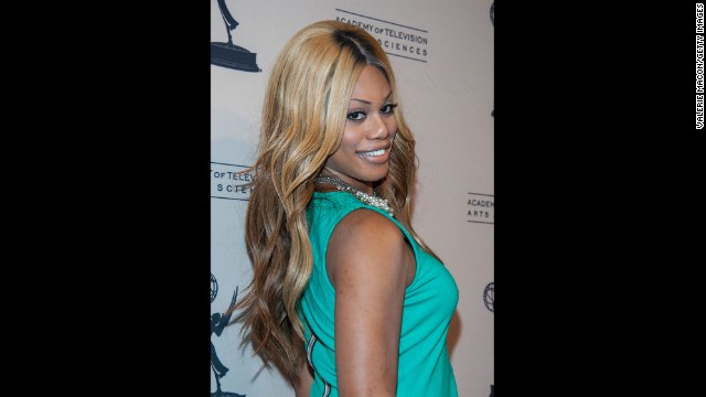 "Laverne Cox is the first openly transgender person to be nominated for an Emmy. She appeared on the VH1 reality show ""I Want to Work for Diddy"" and later produced her own series, ""TRANSform Me."" She now portrays Sophia, a trans woman in prison, on the Netflix show ""Orange Is the New Black."" She received the Emmy nomination for that role."
