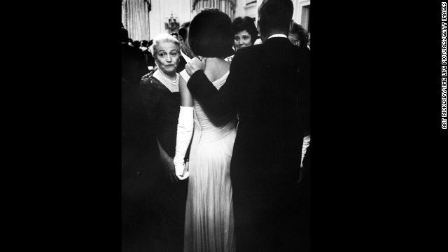 President Kennedy and Jackie greet guests at a party for Nobel Prize winners at the White House on April 29, 1961.