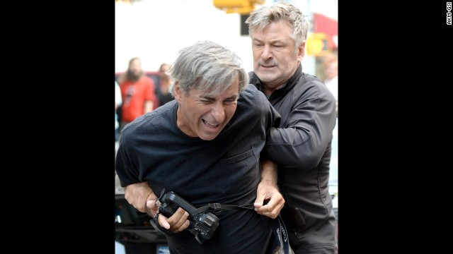In August 2013, both Baldwin and a photographer called the police to report an incident in New York. Apparently a standoff ensued after the photographer got too close for Baldwin's liking while he was with Hilaria. Baldwin has had several <a href='http://www.cnn.com/video/data/2.0/video/showbiz/2013/08/28/newday-dnt-turner-alec-baldwin-paparazzi.cnn.html'>altercations with paparazzi. </a>