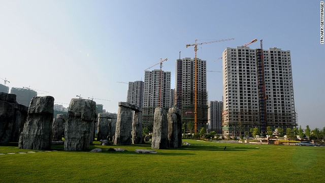 China may be leading the way when it comes to the volume, at least, of reproduced tourist attractions, but the housing project in the background of this Stonehenge copy in Hefei, east China, rather gives the game away.