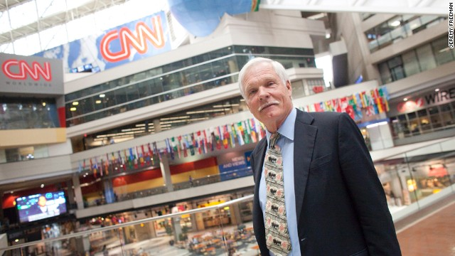 Turner tours Atlanta's CNN Center in 2010.