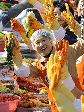 Given how complicated the process is, more and more households in South Korea are opting to buy pre-made kimchi in stores. According to a survey by research institute Gallup Korea last month, 67% of Korean households are making their own kimchi, compared to 95% of households in 1994.