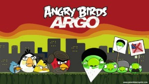 Following Argo\'s Oscar win, The Pan-Arabia Enquirer joked about a new Angry Birds edition.