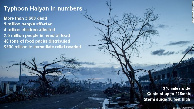 Haiyan: By the numbers