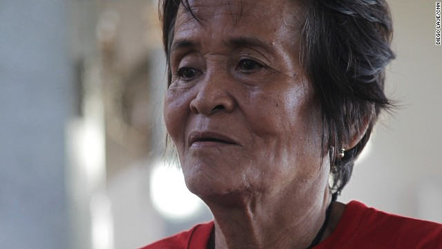 "Arsenia Orioque, 74, had come to the church to pray and to take advantage of the medical services being offered there each afternoon. She seldom came to church before the storm struck, but now she says she can find peace there. ""In my prayers, I give thanks that I survived the typhoon,"" she said.<!-- --> </br>"