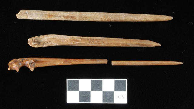 8000-500 BC: Bone pins were used for clothing, hair and body jewelry, and, as may be the case at the springs, spearing fish.