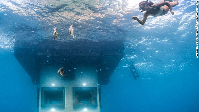The company behind this design also launched The Utter Room in 2000, another underwater room in the middle of a lake in Sweden.