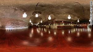 Well seasoned ... a Wieliczka mine chamber.