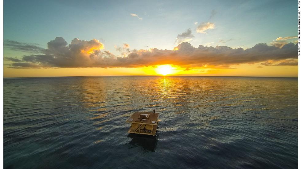 En medio del océano