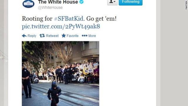 Obama has a #BatKid signal
