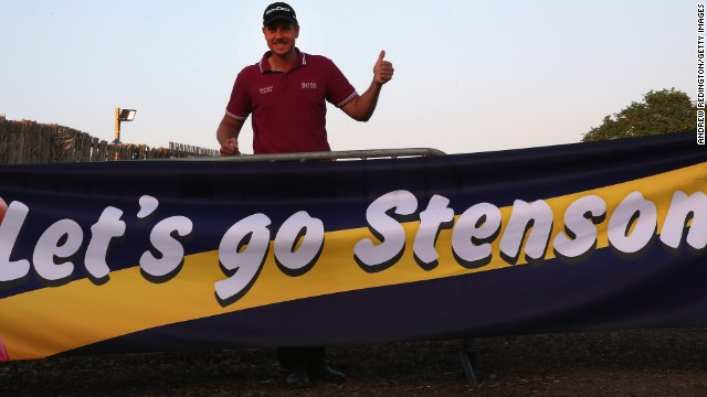 Stenson is in pole position to win the Race to Dubai and it's apparent he has a fan club. He would become the first man to claim both the Race to Dubai and FedEx Cup in the same season.