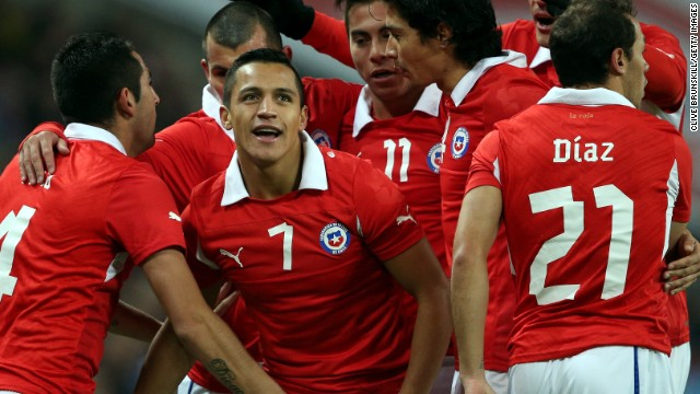 Alexis Sanchez scored both goals for Chile in a 2-0 victory against England at Wembley. And England faces a stiffer test Tuesday when it battles old rival Germany.