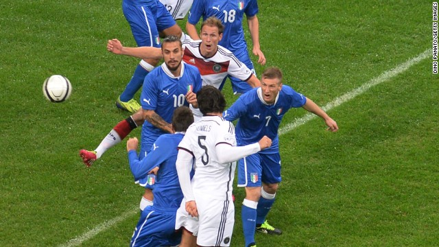 In Friday's most glamorous friendly, Germany and Euro 2012 finalist Italy drew 1-1 in Milan. Mats Hummels opened the scoring for Germany with a header.