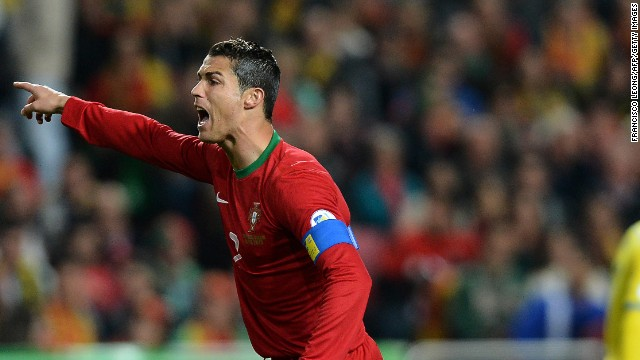 Cristiano Ronaldo cut a frustrated figure for most of the game against Sweden but he scored late to give Portugal a 1-0 win in the first leg of their World Cup playoff.