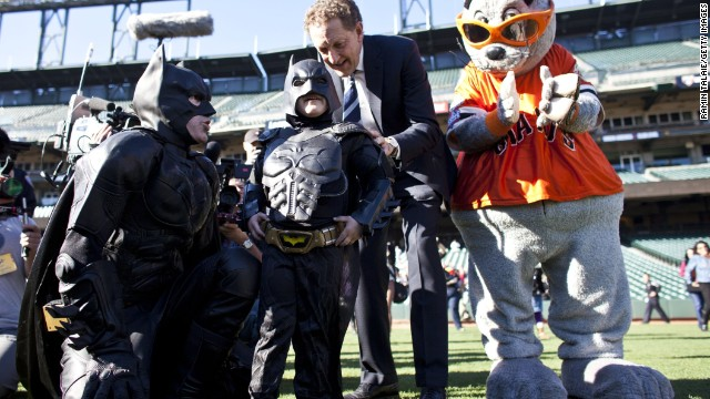 "Leukemia survivor Miles Scott, 5, is probably one of the <a href='http://www.cnn.com/video/?/video/us/2013/11/15/dnt-simon-batkid-dream-gotham-city-rescue.cnn'>best known child superhero fans</a>. His nickname is ""BatKid"" and last year, the Make-A-Wish foundation turned San Francisco into Gotham City for a day to fulfill Scott's wish of bringing BatKid to life."