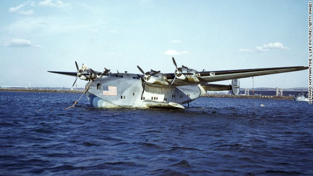 """The """"Jumbo"""" of its time, the 314 Clipper made the first scheduled trans-Atlantic flight in 1939. It held 74 passengers and cemented regular flying on long-haul routes from North America across the Pacific to Asia and across the Atlantic to Europe. Its well-appointed cabin heralded the real birth of in-flight service."""
