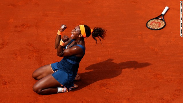 Twelve months on from that shock defeat in the first round, Serena banished her demons by winning her second French Open title, and her first since 2002, after beating defending champion Maria Sharapova.