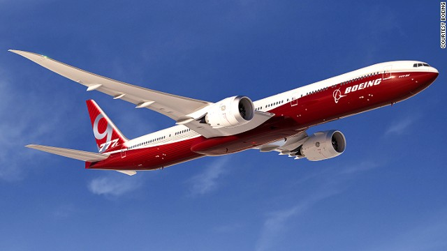 Boeing officially launched its 777X program this week at the Dubai Air Show. The 8X version will offer a range of more than 9,300 nautical miles and have room for 350 passengers. The 9X will have a range of over 8,200 nautical miles and fit 400 passengers. Notable changes from the original 777 include a longer, composite wing and a new GE engine. Production is scheduled to begin in 2017 and first delivery is targeted for 2020.