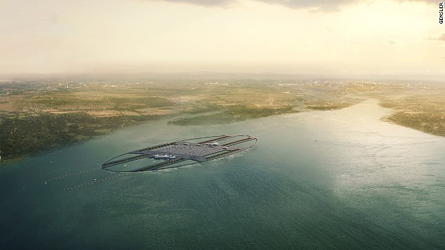 The proposed airport on an artificial island in the Thames estuary would increase London's stretched passenger capacity while adding little noise pollution, planners say.