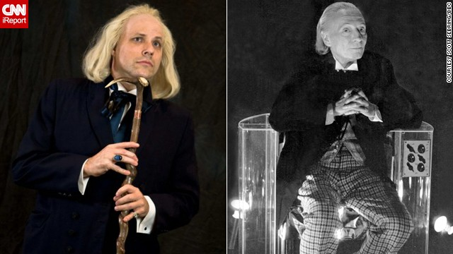 "For 50 years, ""Doctor Who"" has thrilled TV viewers with the science fiction exploits of one alien with two hearts and (thus far) a dozen different faces. Fans have been dressing up as -- cosplaying -- their favorite Doctors for decades. Here, Scott Sebring, left, portrays William Hartnell's First Doctor."