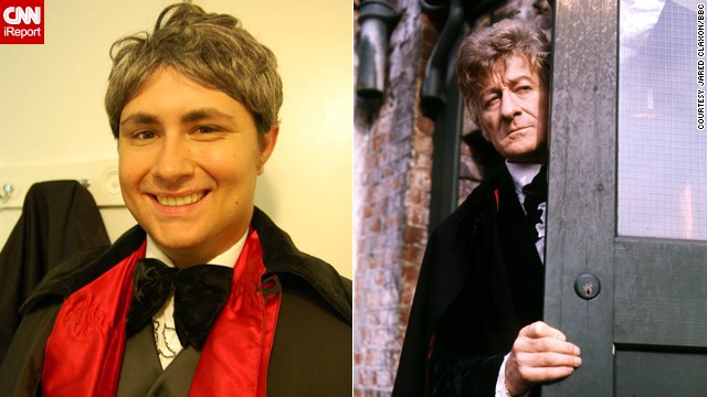 "<a href='http://ireport.cnn.com/docs/DOC-1060747'>Jared Claxon's</a> favorite Doctor is the third, played by Jon Pertwee. "" I watched reruns of Three on PBS when I was a wee lad,"" said the market researcher from Lake Helen, Florida. He was cosplaying the Third Doctor when he met his now fiancee."